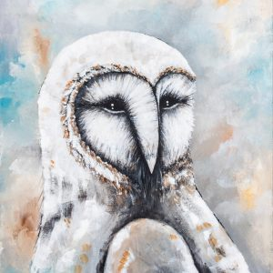 Barn owl A3 print