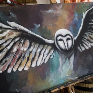 Dragonflight – acrylic painting on canvas