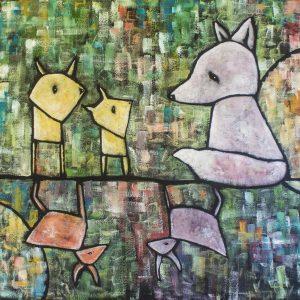 Rådd – acrylic painting on canvas