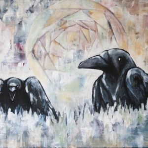Korpar – ravens original painting