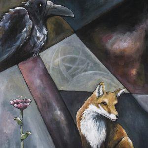 Lilla räven – little fox Original painting